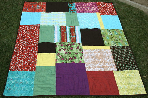 Lantern Bloom Quilt Back