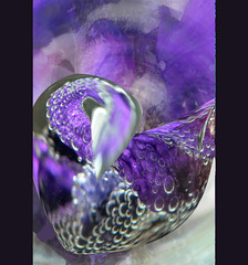 Listen to Your Heart Song (Karen McQuilkin) Tags: iris abstract flower macro photoshop utah underwater purple bubbles theawardtree karenandmc listentoyourheartsong