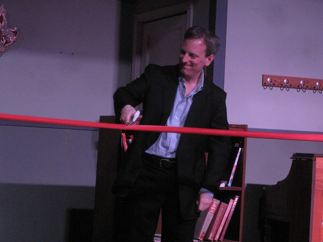 The ersatz Narrator cuts the ribbon that connects Will and Ralph.