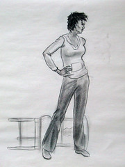 Life Drawing 2 (spencerjoh7) Tags: art pencil ink university clothed johnson charcoal figure colored spencer academy conte