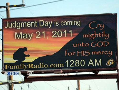 Judgment Day is coming May 21, 2011