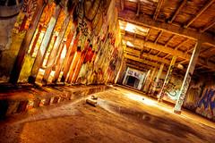 Postmodern Discourse (wong_jordan) Tags: sf sanfrancisco graffiti urbanexploration bayarea hdr urbex spraycans citybythebay abandonedarchitecture municipalpool highdynamicrangephotography illegalities fleishhackerbaths fleishhackerpoolhouse