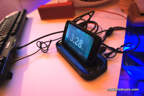 Motorola Atrix docked on HD Multimedia Dock.