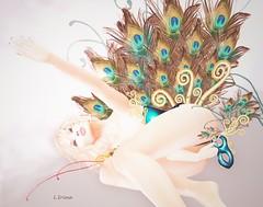 ☼☼☼ (latgola) Tags: irrisistible shop peacock masquerade carnival mardi gras rio de janeiro irina latgola mesh belleza slink hourglass maitreya