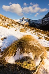 L'oro del Mattino (Andrea Moraschetti Photography) Tags: ngc canon sun light morning view landscape stone grass clouds sky top summit mountain gavia pass brescia vallecamonica mountains italy italian park stelvio nationalpark nature natura snow winter pns