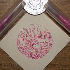small pink circle (Alkaline Samurai) Tags: ink intricate inkart lineart circle pen pink texture twist tiny art alkalinesamurai arlendean abstract psychedelic pattern precision calligraphy waves small