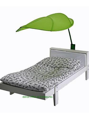 Bring the fun back again! IKEA Lova Kids Children Bed Canopy GREEN LEAF  $6