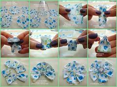 Pap - flor de pétala quadrada (Marina - Maria Mistureba) Tags: flor fuxico tutorial pap quadrada