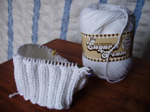 cotton cap in progress