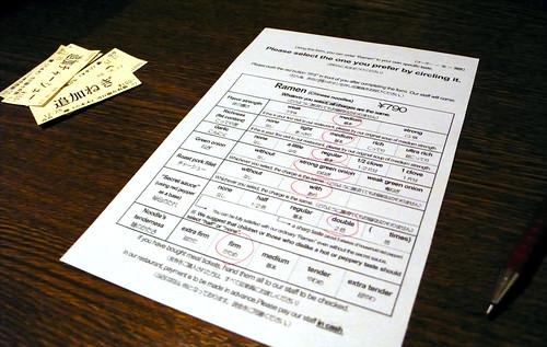 ramen questionnaire, tokyo