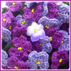Flor e inspirao (Lidia Luz) Tags: amigos flower handmade crochet flor violet violeta croch lidialuz grupoquintaflower