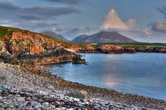 Triasamol 2 (the44mantis) Tags: sea mountain beach rock island scotland hill lewis escocia highland shore uig tranquil hdr hebrides schottland schotland ecosse scozia crowlista mealisval mealisbhal cradhlastadh