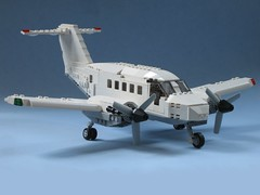 beechcraft final (psiaki) Tags: airplane lego beechcraft hawker turboprop moc