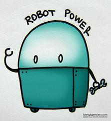 robot power (bengi gencer) Tags: cute robot drawing illlustration robotpower