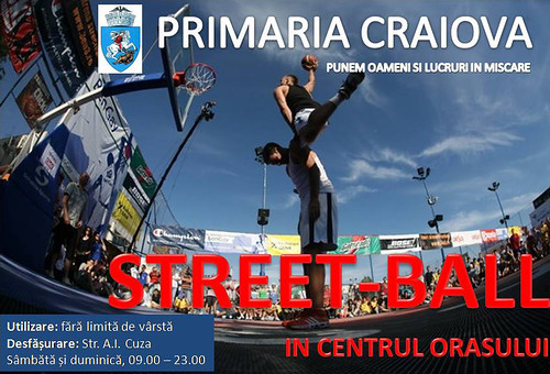 Street-ball in centrul Craiovei