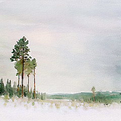 Winter landscape (piker77) Tags: winter snow painterly tree art nature digital photoshop watercolor painting landscape interesting media natural aquarelle digitale manipulation simulation peinture illusion virtual watercolour transparent acuarela tablet wacom stylized   piker77wc nmpemulation arthystorybrush