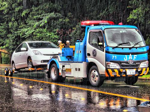 フリー画像|自動車|トラック|JAF|HDR画像|フリー素材|