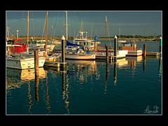 Golden Apollo Bay, Victoria (sachman75) Tags: sunset marina evening harbour australia victoria greatoceanroad fishingboats goldenhour apollobay 35mmf2 canon40d