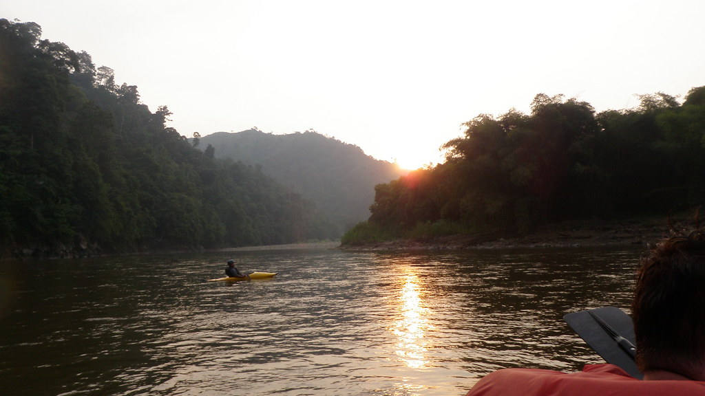 Padas river, sunset
