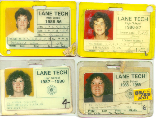High School IDs, 1985-1989