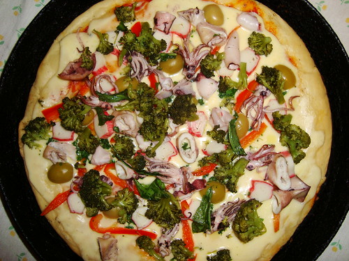 Pizza com muchos topping