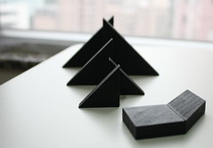 Tangram -  (contradiction) Tags: black square triangle geometry tangram parallelogram qiqiaoban