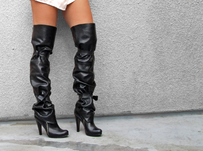Love Maegan DIY thigh-high boot spats 2