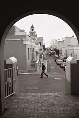 Chiappini Street (IrvineShort) Tags: capetown yashica kodak400cn bokaap electro35 chiappinistreet mycapetown