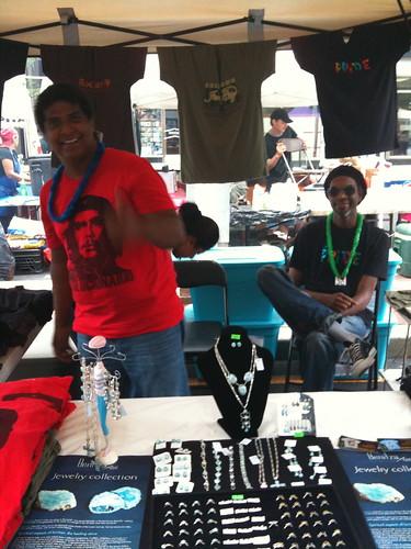 Benitza Art's booth, JC Pride
