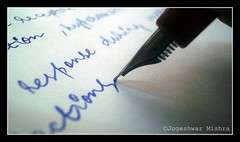 The pen is mightier than the sword (Jogeshwar) Tags: pen paper words letters sword parker