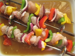 Chicken marinating in Yakitori sauce