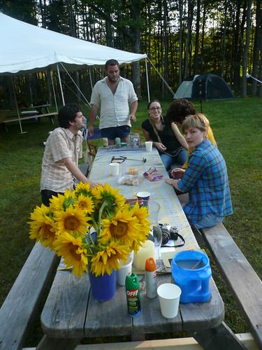 """Picnic Table at """"Camp I Do"""""""