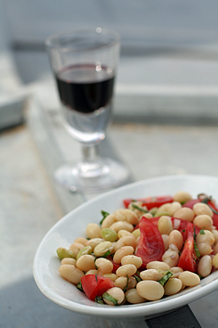 vertical bean plate