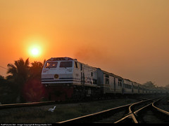 Sunrise in Kedunggedeh when CC 20326 Hauled K.A 73 Gumarang running very fast (Bang Ricki VanDirjo Sepur44) Tags: sunrise very fast running cc ka 73 hauled gumarang 20326 kedunggedeh