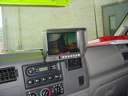 SV-LCD70 monitor installed in Los Angeles City Airport Fire Department's SUV