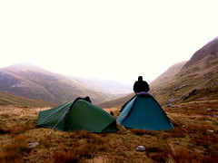 camp mountains tents munros