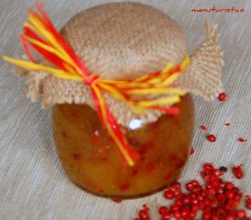 marmellata di ananas e pepe rosa
