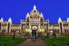 [フリー画像] [人工風景] [建造物/建築物] [ブリティッシュコロンビア州議事堂] [夜景] [カナダ風景] [HDR画像]     [フリー素材]