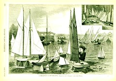 1880 F S Cozzens - English artist - A MIniature Yacht Regatta  - Harpers Young People (oldsailro) Tags: park old boy sea summer people sun lake playing beach water pool girl sunshine harpers youth sailboat race vintage children fun toy boat miniature wooden pond model waves sailing ship child time yacht antique group boom mat regatta yachts hull sailboats spectators weekly watercraft 1880 adolescence keel fashioned