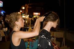 e stai ferma ...! (gufino (out for awhile)) Tags: sardegna donna italia villasimius notte capelli manichino riccia umanit liscio fermaglio pettinare