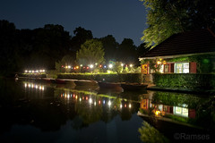 Haus am See (Ramses 2) Tags: light house lake reflection nature water night boats see licht wasser nacht natur cologne haus kln boote beergarden spiegelung lichter biergarten langzeitbelichtung kln blcherpark goldstaraward blcherpark