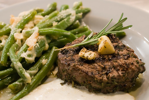 Jamie Oliver Grilled Filet Mignon with Horseradish Sauce and Best Ever French Beans