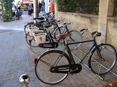 classic bianchi bike in rhodes (Mark Gell) Tags: classic bikes brakes rod brake bianchi holidayinrhodes