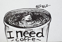 i need coffee (drawing restraint 9) Tags: me coffee cafe need idiota demasiado pone estudiar adiction adiccion