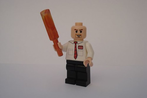 Shaun with new cricket bat.