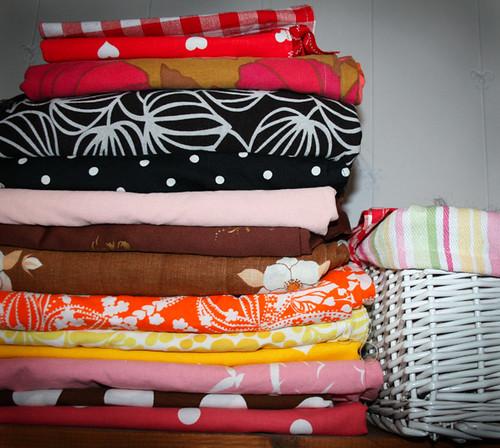 Inspiring pile of fabrics 2