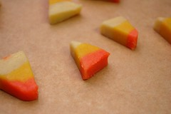 Candy Corn Cookies Ready For The Oven
