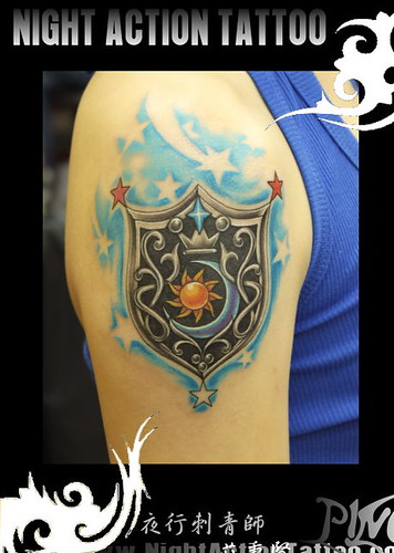shield tattoo 盾牌刺青