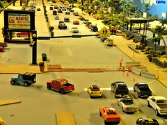 Diorama: N. Ocean Blvd. at Mystic Ave. (Phil's 1stPix) Tags: street cars ford beach vw digital work honda miniature construction jeep 4x4 pickup mini olympus chevy hotwheels cooper dodge greenlight trucks suv landrover redlight m2 acura 1000 diorama matchbox lexus 1000views scalemodel diecast maisto mysticbeach ertl johnnylightning revelle olympuscamera diecastcar diecastmodel diecasttruck diecastcollection shelbycollectibles diecastcollectible diecastvehicle malibuinternational sp565uz 1stpix miniaturevehicle customdiecast scalevehicle diecastdiorama 1stpixdiecastdioramas 1stpixdiecastdiorama diecastlayout 164scalediecast dioramalayout diecastautomobile bigdiorama roaddiorama trafficdiorama populardiecast populardiorama mostviewdiorama