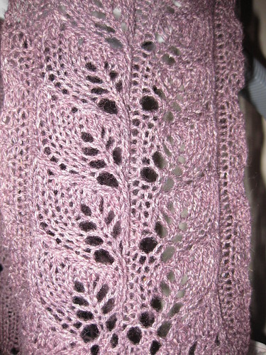 Knit Sample Lace Scarf